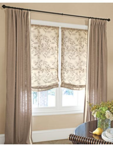 27 best shades drapes together images on pinterest for Shades for bedroom windows