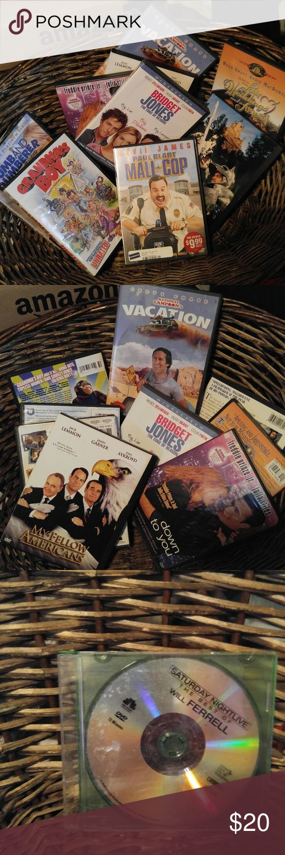 Comedies, DVD movies for whole family SNL to Grandma's Boy.  To Couples Retreat funny laugh it up with them.  Enjoy. Great condition. Comedies Other
