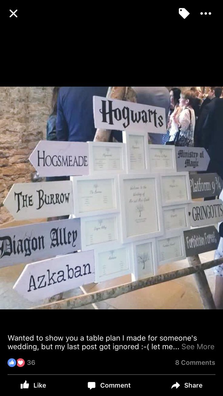 Harry Potter wedding themed tables