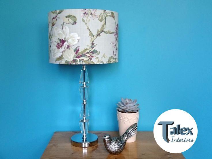 Grey Fl Lampshade Pink White, Pink Grey And White Lamp Shade