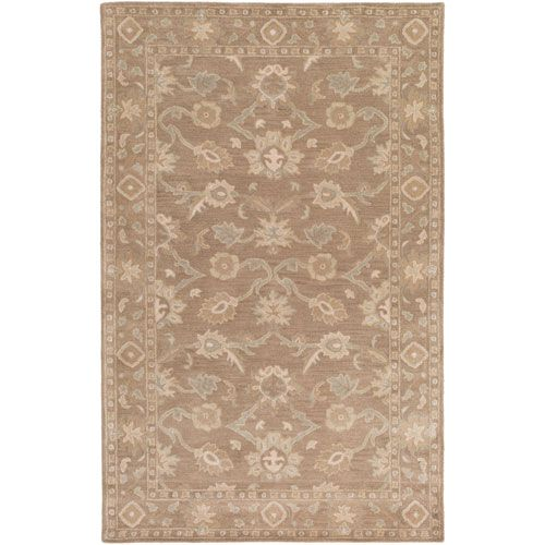 Caesar Neutral and Brown Rectangular: 7 Ft 6 In x 9 Ft 6 In Rug - (In Rectangular)