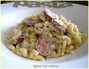 Risotto de coquillettes à la saucisse de Montbéliard - Quand Nad cuisine...