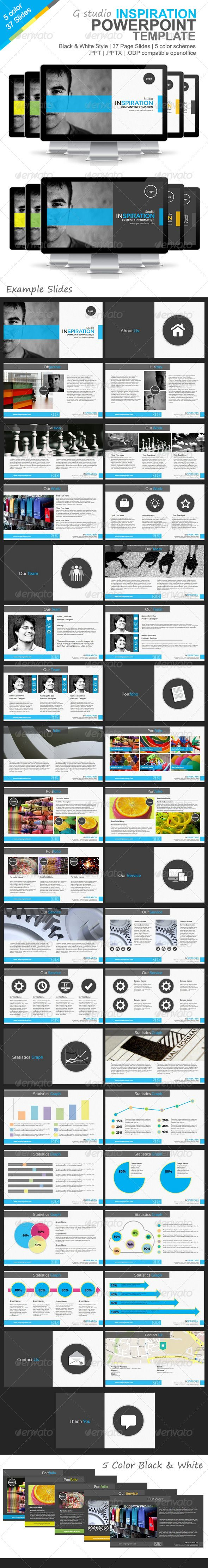 Gstudio Inspiration Powerpoint Template - Presentation Templates