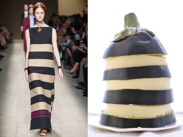 Valentino ss 2014 / Provolone cheese and eggplant flan
