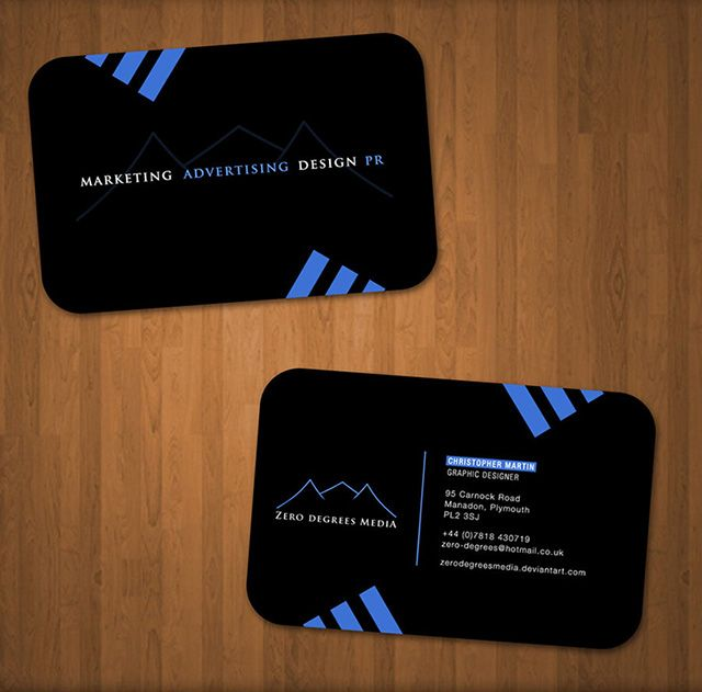 112 best black business cards templates images on pinterest