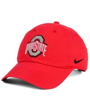 Nike Ohio State Buckeyes Dri-fit 86 Authentic Strapback Cap - Red Adjustable