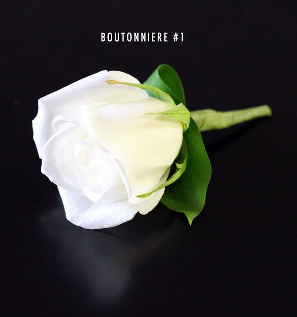 Bridal White Boutonniere! From Bridal Flowers to Go! Wedding Flowers in Houston, TX http://www.bridalflowerstogo.com