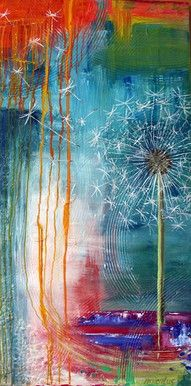"""MAKE A WISH"", 70x140x4, akryl på lærred, kunstner: Renata Mientus, http://maleri-rmp.jimdo.com/"