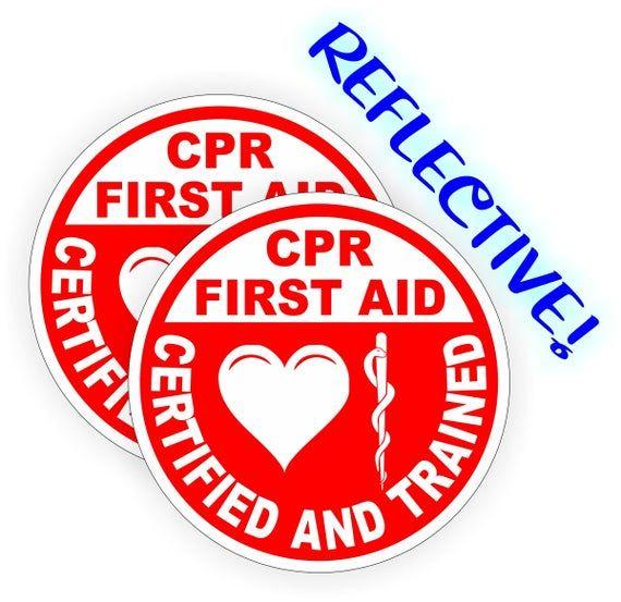 SAVE STICKER FOR FIRE HELMET C.P.R