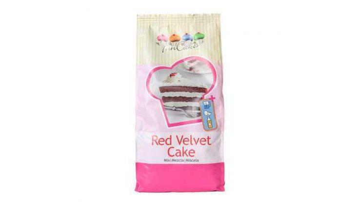 Mezcla para tarta RED VELVET de la marca Funcakes