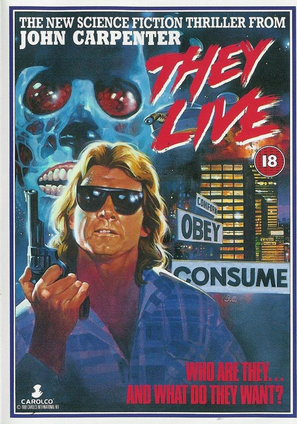"""""""They Live"""" (1988) VHS cover"""