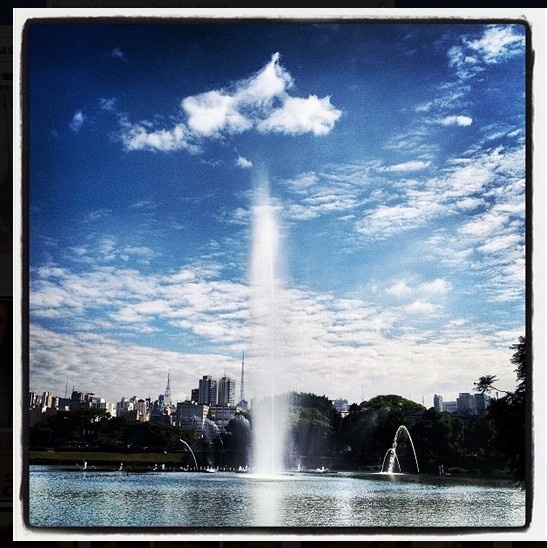 That's Ibirapuera Park, my favorite place in São Paulo and where I exercise every morning.