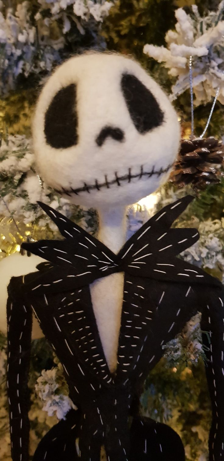What's this? Needle felted Jack skeleton