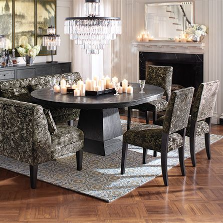 54 round pedestal dining table in black 807 pinterest round