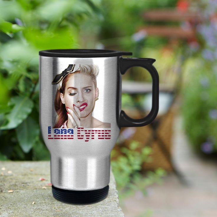 Lana Del Rey Miley Cyrus Stainless Steel Travel Mug
