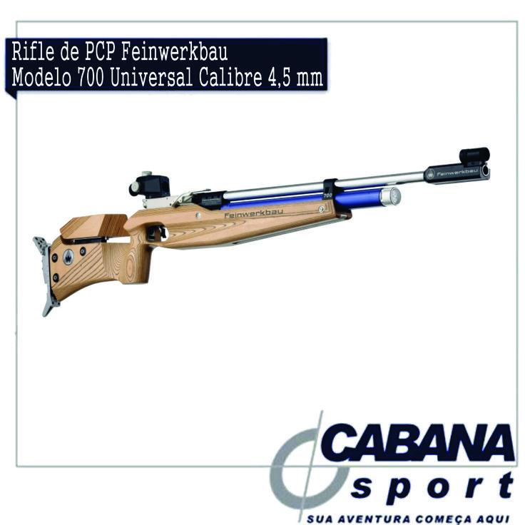 Este rifle de ar comprimido possui um design técnico, mas também está disponível na versão clássica em coronha de madeira laminada.