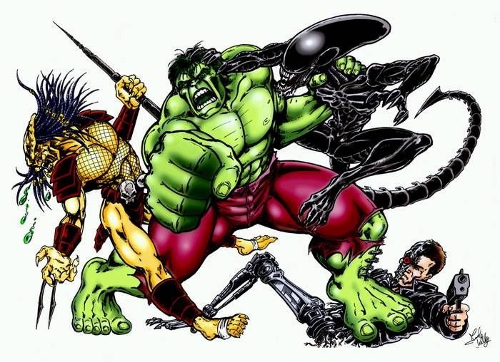 #Hulk #Fan #Art. (Hulk VS The Movies) By: Mark Kelly. ÅWESOMENESS!!!™ ÅÅÅ+