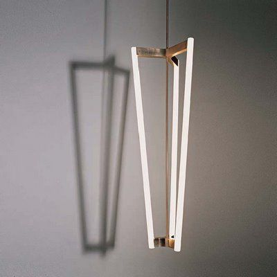 Tube Chandelier by Sigmar   I love the  long triangular wedge shape...uncommon.