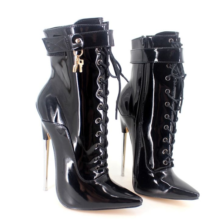 117.80$  Buy here - http://ali4g4.worldwells.pw/go.php?t=32783221630 - Sexy 18cm High Heels Ankle Boots Women Pointed Toe Metal Heels Footwear Online Large Size Womens Shoes Multi Colors 2017