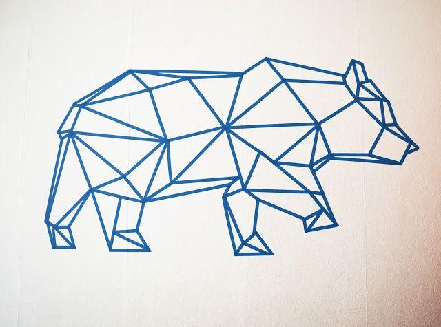 ours-masking-tape-bleu-decoration-murale