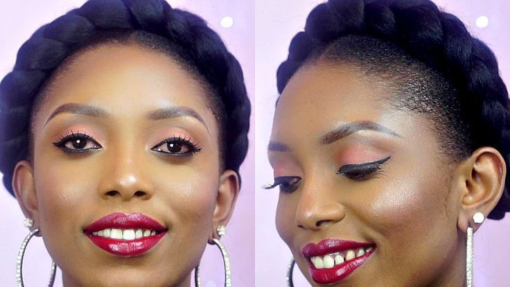 How To: The Perfect Halo/Goddess Braids On Short Natural Hair   – I Love Hair – …   – Braid Recipes