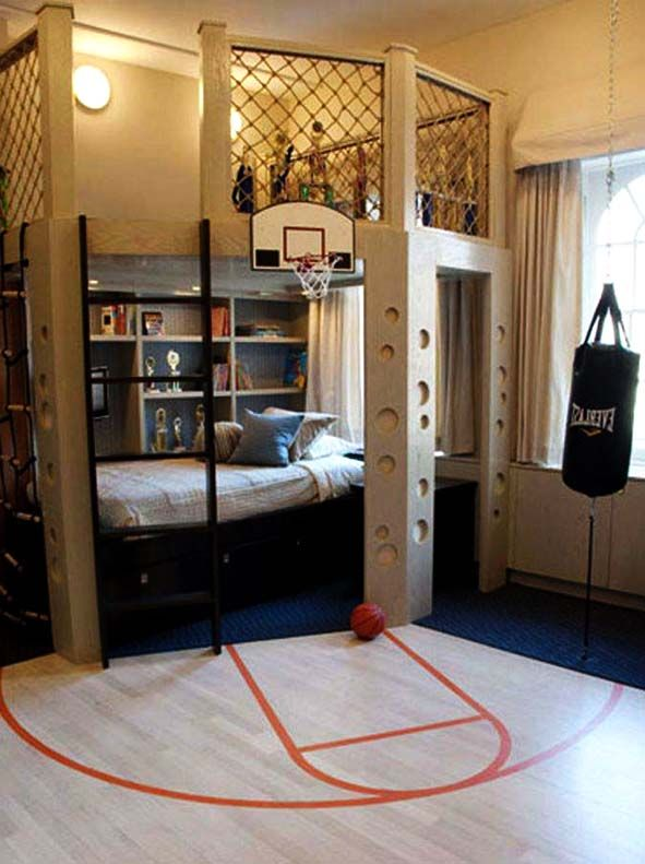 Elegant Bedroom Sports Decorating Ideas | ... For Boys Sports Bedroom Ideas : Boys  Sports