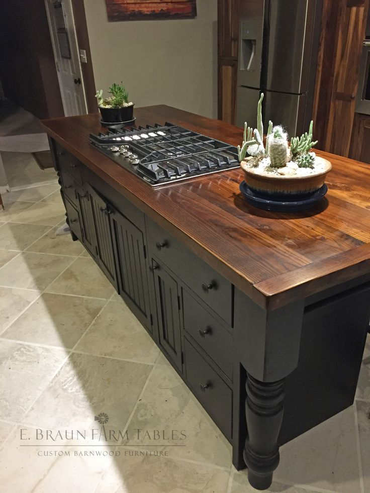 Reclaimed wormy chestnut barn wood tops this beautiful and  multi-functional… Lancaster County PennsylvaniaCustom ... - 674 Best Reclaimed Barn Wood Furniture By E. Braun Farm Tables
