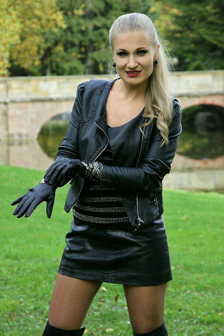 Lederlady Leather Fashion Leather Gloves Black Leather