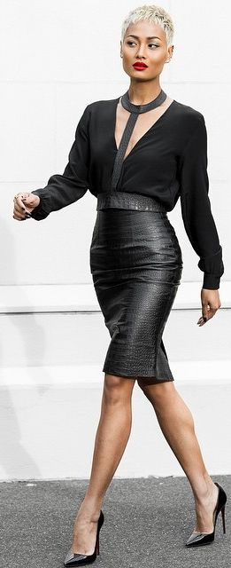Black Ultra Chic Outfit by Micah Gianneli