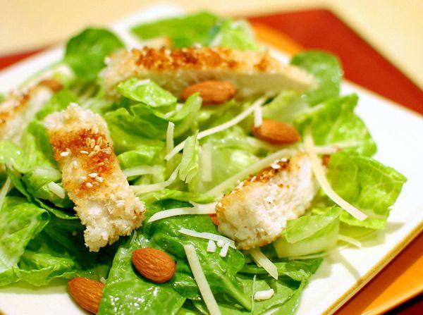 Caesar Chicken Salad (Ensalada César con pollo)