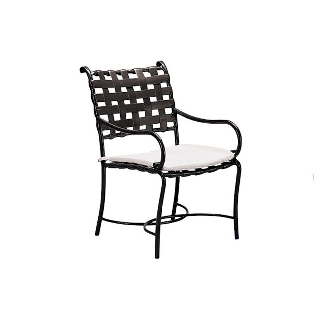 Brown Jordan Roma Strap Arm Chair Outdoor Dining Chairs Outdoor Furniture Outdoor Chairs