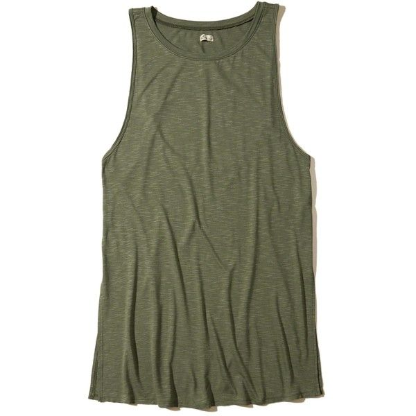 Hollister Cutout Tunic Swim Cover-Up ($30) ❤ liked on Polyvore featuring swimwear, cover-ups, olive, olive green swimsuit, bathing suit cover ups, olive swimsuit, swim suit cover up and cut-out swimsuits