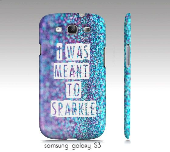 samsung galaxy S3,S4, iphone4,5 phone case, turquoise, aqua, girly, glitter, photograph, sparkle, typography on Etsy, $35.00
