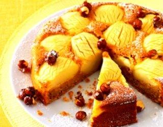 Ciasto z jabłkami na spodzie karmelowym - apple cake