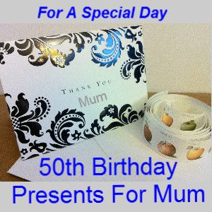Hope these ideas for 50th birthday presents for mum help you and your mum has a fabulous birthday.