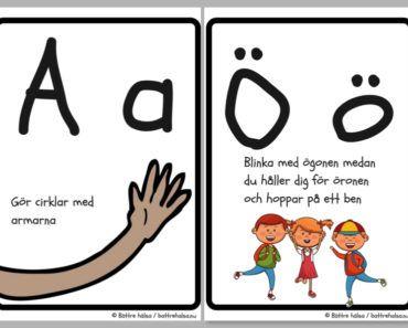 aktiviteter för barn, barnaktiviteter, pyssla och lek, knep och knåp, lära sig alfabetet, röra på sig, lekar, rörelselekar