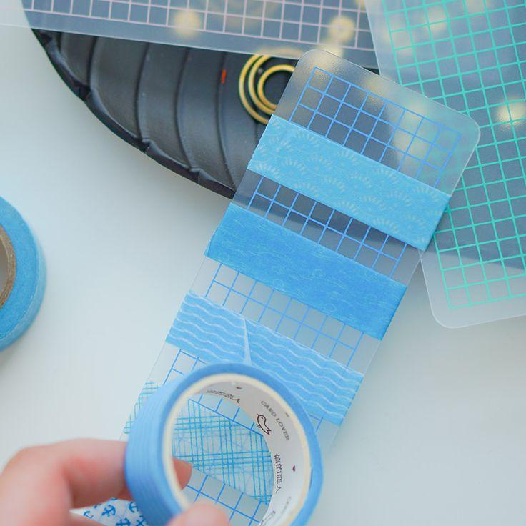 Make a washi tape sampler! Aliexpress.com : Buy Dokibook Portable Grid Transparent Pvc Washi Tape Packing Board #washitape