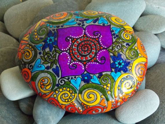 Global Vision Quest / Painted Rock / Sandi Pike by LoveFromCapeCod, $200.00