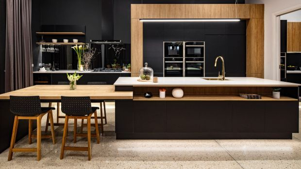 The Block's Will and Karlie ensured their kitchen had plenty of bench space for food preparation and entertaining.