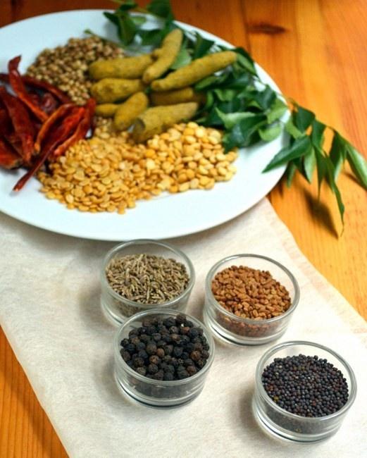 Homemade Sambar Powder Ingredients