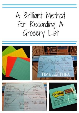A Brilliant Method For Recording A Grocery List - Time With Thea