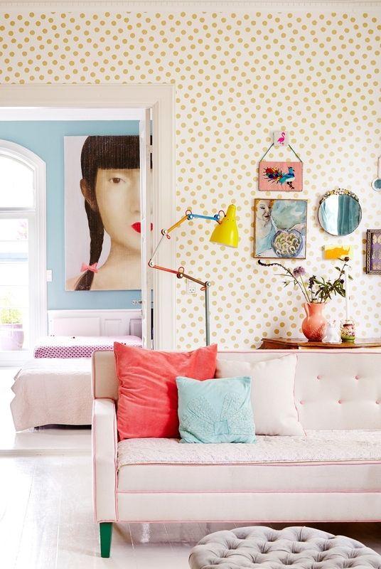 ... Behang Met Stippen op Pinterest - Wanden Met Stippen, Gestreept Behang