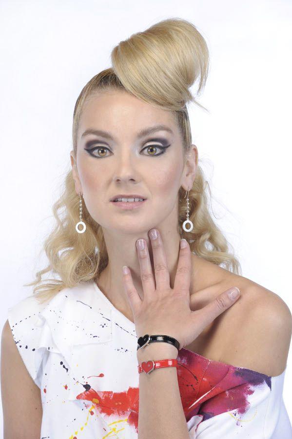 Model wearing Love U bracelet