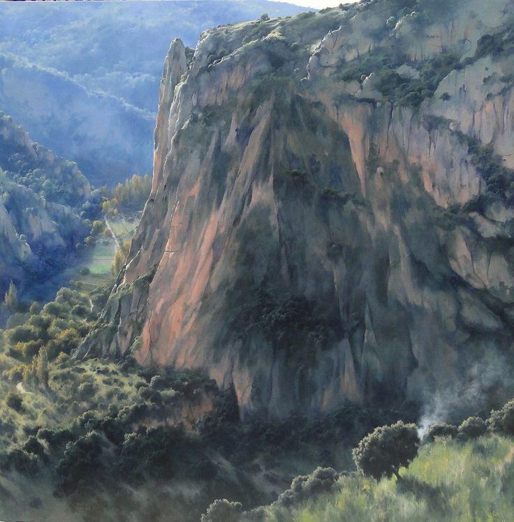Fermín García Sevilla Vértigo.....óleo  madera entelada....195x195 cm