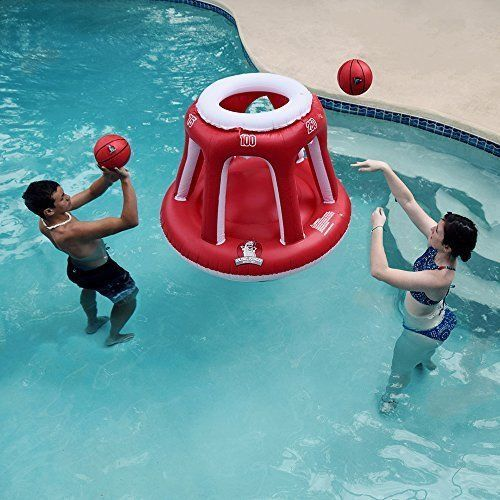 Giant Inflatable Basketball Hoop Pool Toys Water Games Summer Kids Adults Fun  #InflatablePoolToys