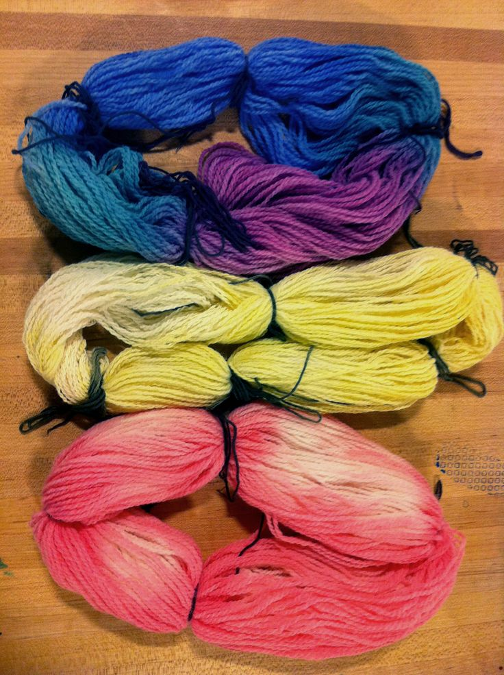 Thermochromic Yarn-   yarn dyed by hand with thermochromic inks.