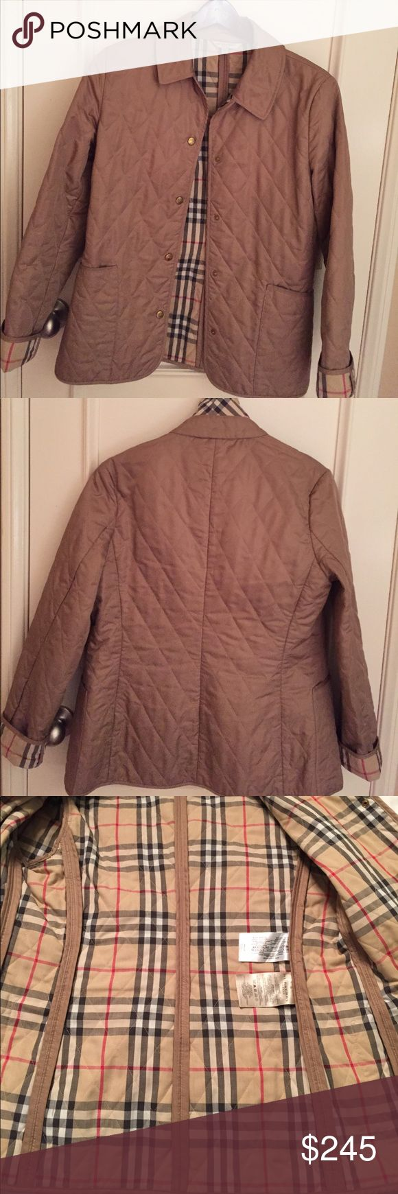 Authentic Burberry classic quilted jacket Timeless classic Burberry jacket. Gently loved. Very good condition except buttons. Tarnished but not significant. No Bundle or trade on this item, please! Burberry Jackets & Coats