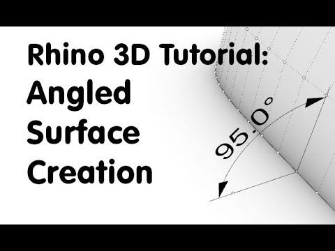 Rhino 3D Tutorial: Modelling angled surface (Product Design
