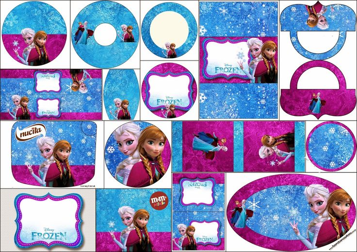 Frozen in Blue and Purple: Free Printable Candy Bar Labels. | Oh My Fiesta! in english