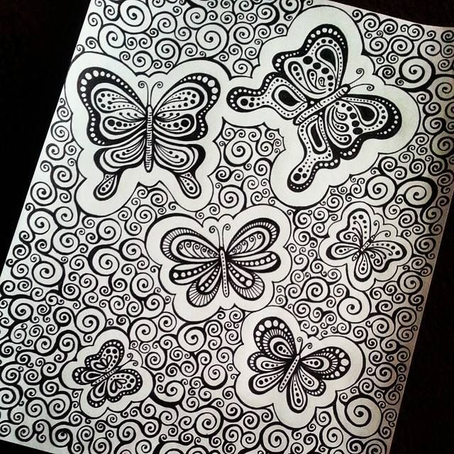 butterfly doodles - Lady Lorelie Productions
